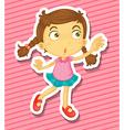 Kid dancing vector image