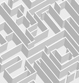 Labyrinth background vector image vector image