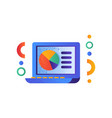 laptop e-learning education concept school vector image