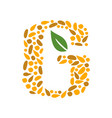 letter g with grain icon vector image vector image