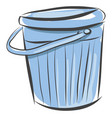 light blue bucket on white background vector image vector image