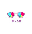 love and peace vector image