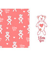 lovesick toy bear pink seamless pattern cute vector image vector image
