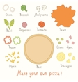 Make you own pizza set vector image vector image