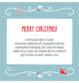 Merry Christmas greeting card background design vector image