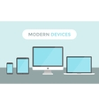 Modern Devices vector image