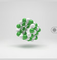 molecular structure with spheres 3d can be used vector image vector image