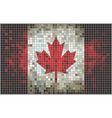 Mosaic flag of Canada vector image