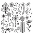 nature collection with vector image vector image