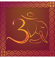 Om sign with patterned frame vector image