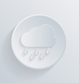 paper circle flat icon cloud rain vector image vector image