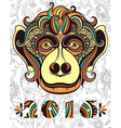 Patterned head of the monkey vector image vector image