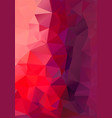 polygon background red and purple height vector image vector image