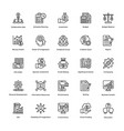 project management line icons set 10 vector image vector image