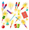 pyrotechnics firework cracker sparkler colorful vector image vector image