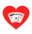 red heart with fuel gauge love meter valentines vector image vector image