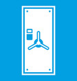 safe door icon white vector image vector image