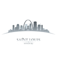 Saint Louis Missouri city skyline silhouette
