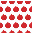 seamless pomegranate pattern fruit background vector image vector image