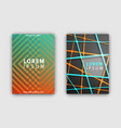 set of designed covers on vector image vector image