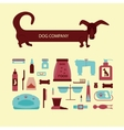 Set of sign dog accessories vector image vector image