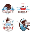 Skiing Emblems And Design Elements vector image vector image