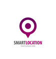smart location logo for business company simple vector image