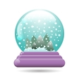 snow globe with a Christmas tree vector image vector image