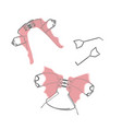 the removable orthodontic appliances to make the vector image vector image