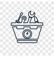 toolbox concept linear icon isolated on vector image