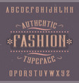 vintage label font named fashion vector image vector image