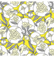 white garden peon seamless pattern for wrap vector image vector image
