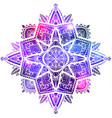 zen mandala with boho pattern space vector image