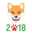 dog chinese zodiac of 2018 year flat icon vector image