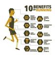 10 benefits of running design vector image
