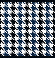 houndstooth seamless pattern vector image