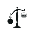 Apple or burger food design vector image