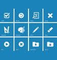 Application interface icons on blue background vector image vector image