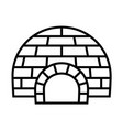 arctic igloo icon outline style vector image vector image