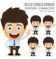 Businessman cartoon character EPS 10 vector image vector image