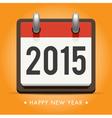 calendar 2015 happy new year card vector image vector image