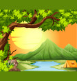 camping in the nature vector image