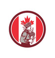 canadian bagpiper canada flag icon vector image vector image
