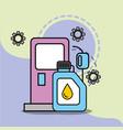 car service maintenance pump gasoline station vector image vector image