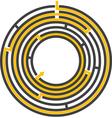 Circular maze preview vector image vector image