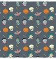 colorful textile halloween pattern vector image