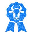 cow award seal icon grunge watermark vector image vector image