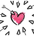 crayon valentines day vector image vector image