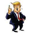 Donald Trump Cartoon vector image vector image