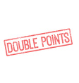 Double points red rubber stamp on white vector image vector image